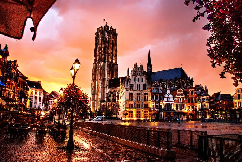 Mechelen, Belgium by night