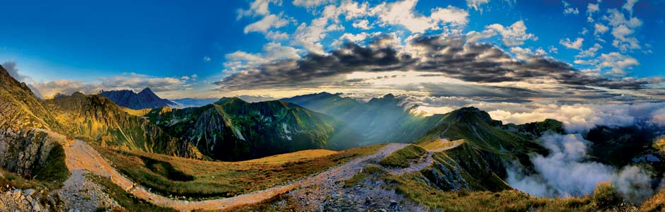 Zakopane, view on the mountain range